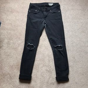 H&M skinny jeans with knee cutouts